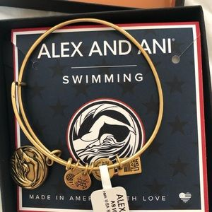 Alex and Ani Team USA Swimming Charm Bracelet